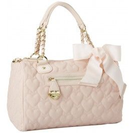 Betsey Johnson Mine & Yours Blush Quilted Satchel Handbag for $98.00 - in Bags