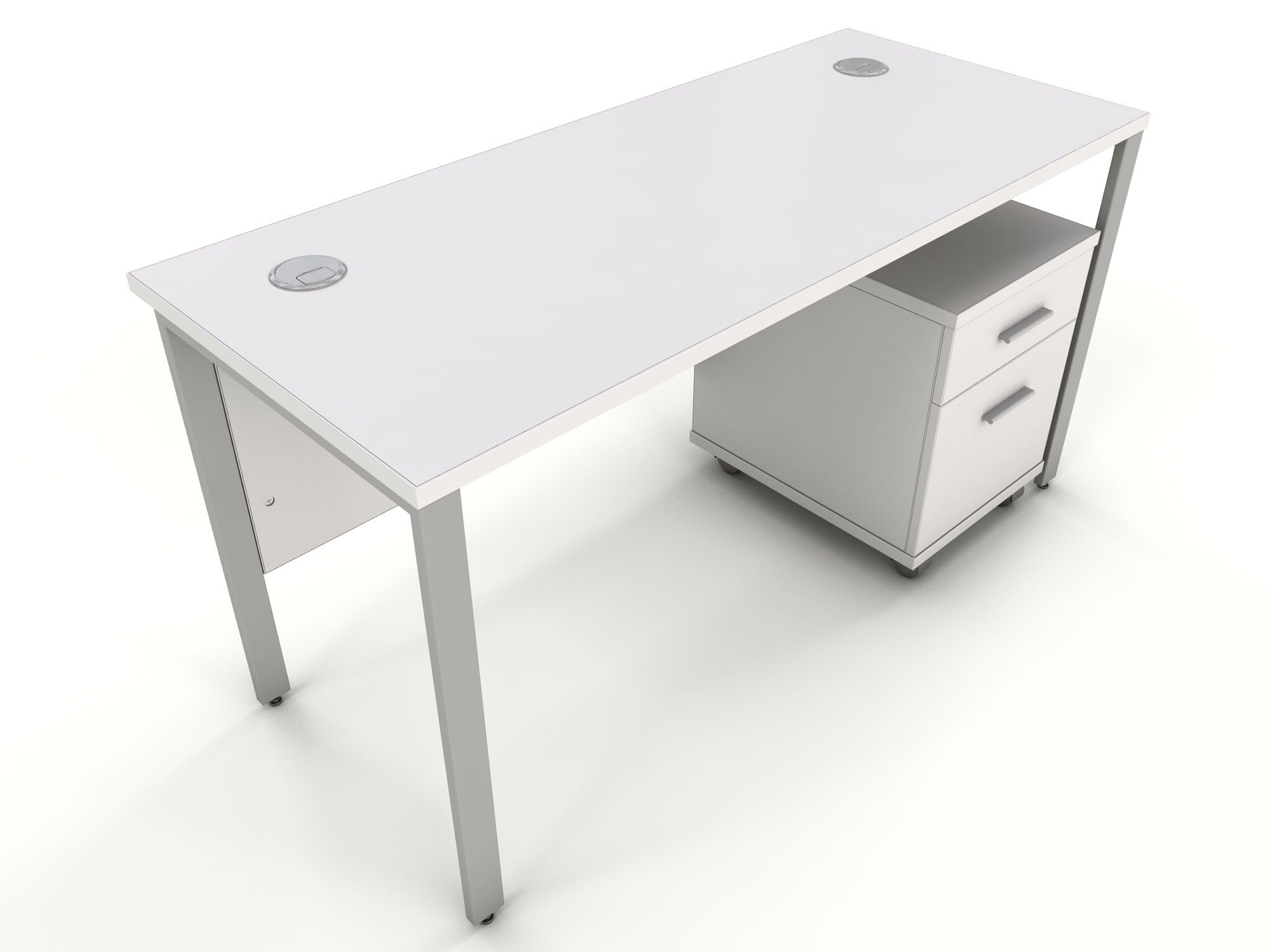 White Office Bench Desk - Space Saving Desk Ideas Check more at http ...