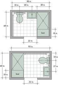 small bathroom layout 5 x 7 - Google Search | Planos de ...