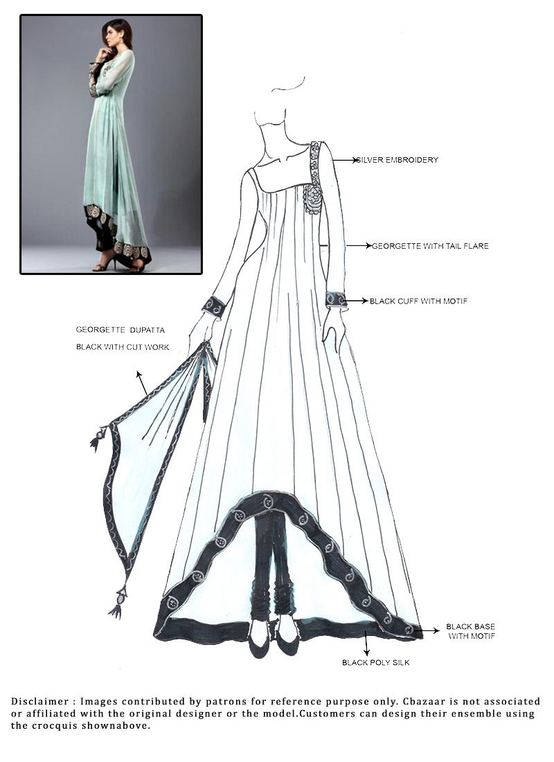 DIY Turquoise Anarkali Suit .. Like the asymmetrical hem and clear ...