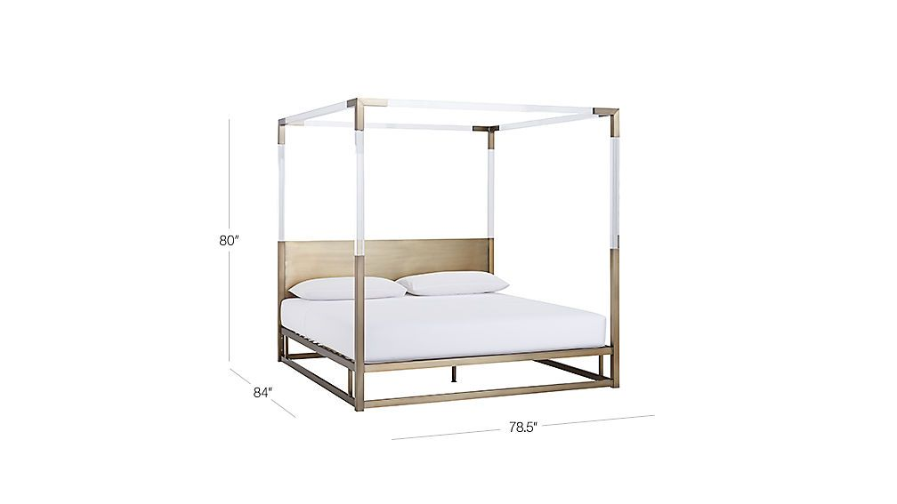 Image With Dimension For Acrylic Canopy Bed King Black Canopy
