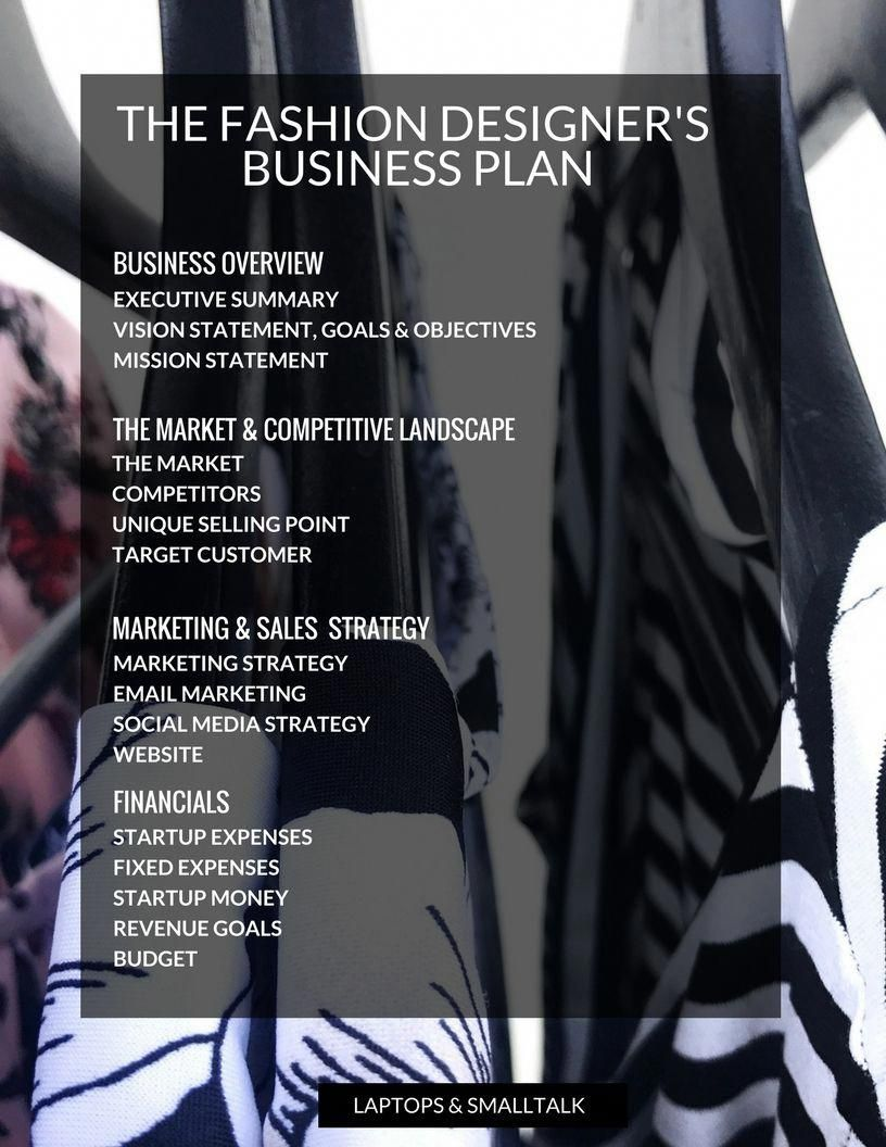 The Fashion Entrepreneur S Business Plan You Ll Actually Want To Use Laptops Smalltalk Busine Fashion Entrepreneur Business Business Planning How To Plan