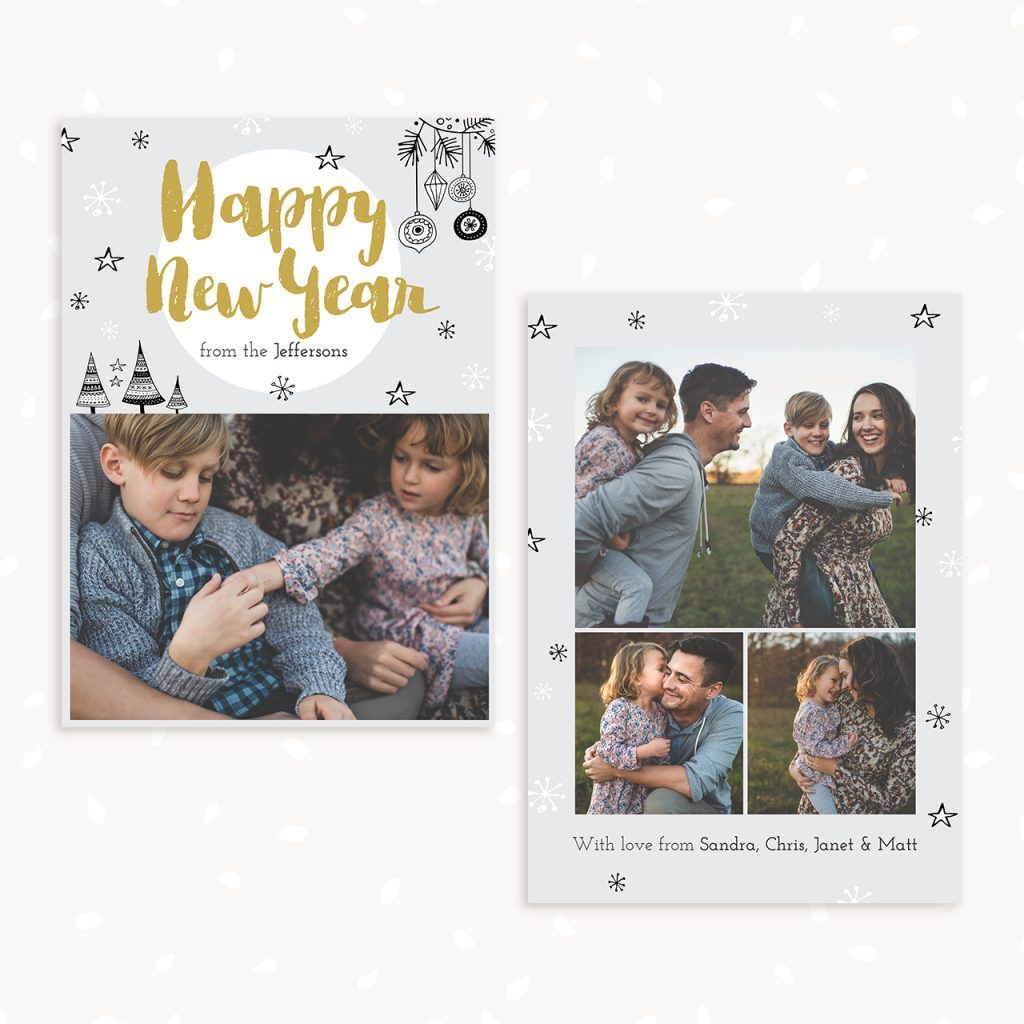 Happy New Year Card Template New Year Card Happy New Year Cards Happy New