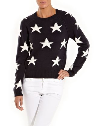 Navy (Blue) Black Intarsia Star Jumper | New Look