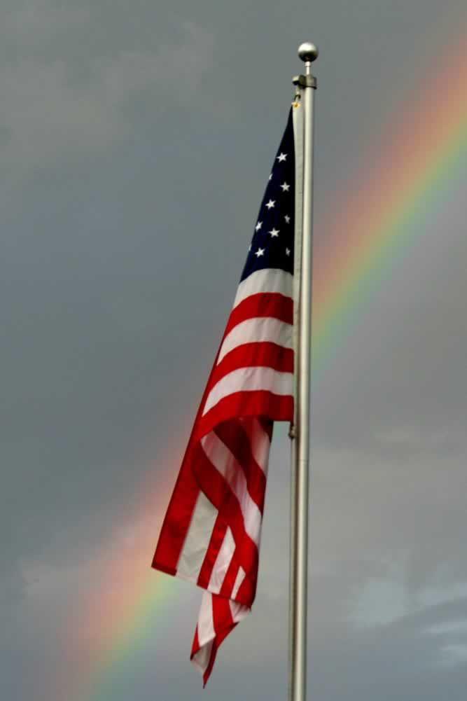 Gods Promise Old Glory Let Freedom Ring Flag
