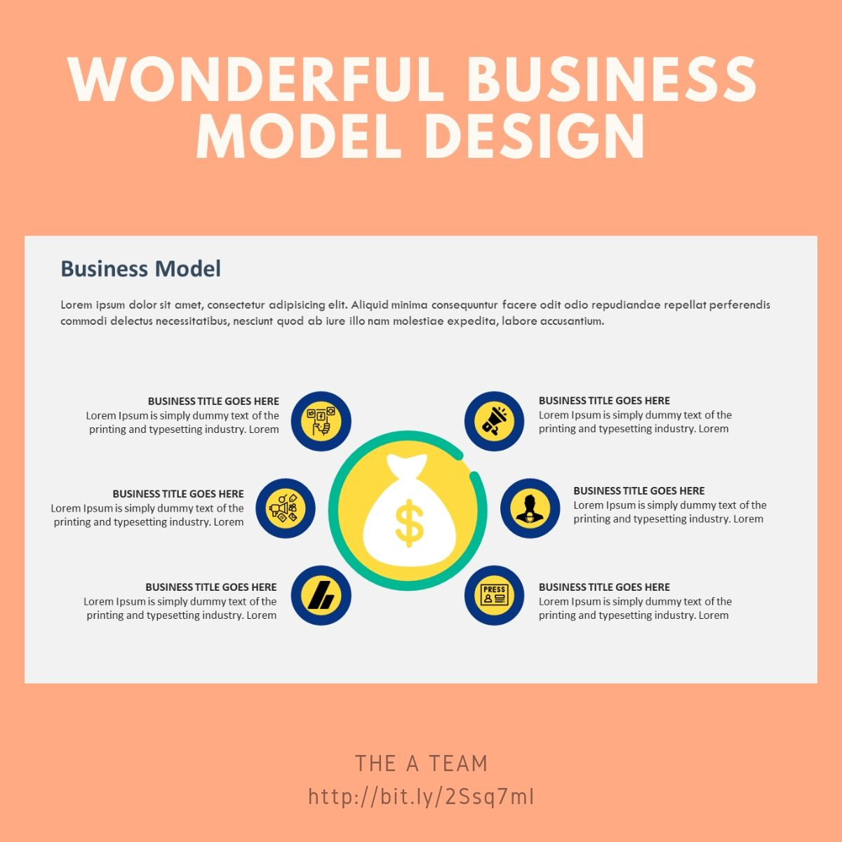 Wonderful business model slide and template design