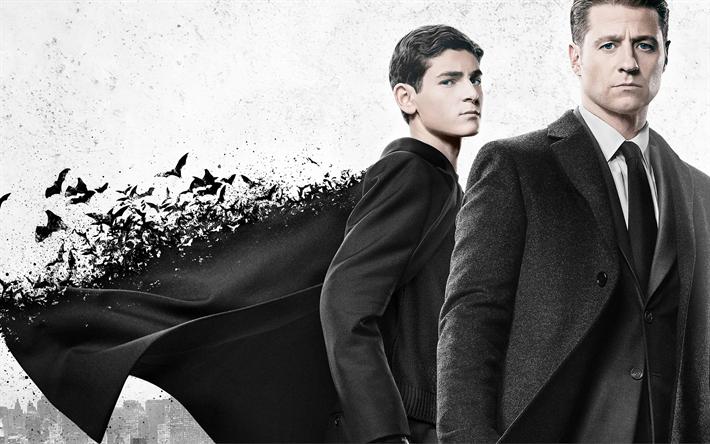 Lataa kuva Gotham, Kausi 4, 2017, TV-Sarja, Ben McKenzie, David Mazouz