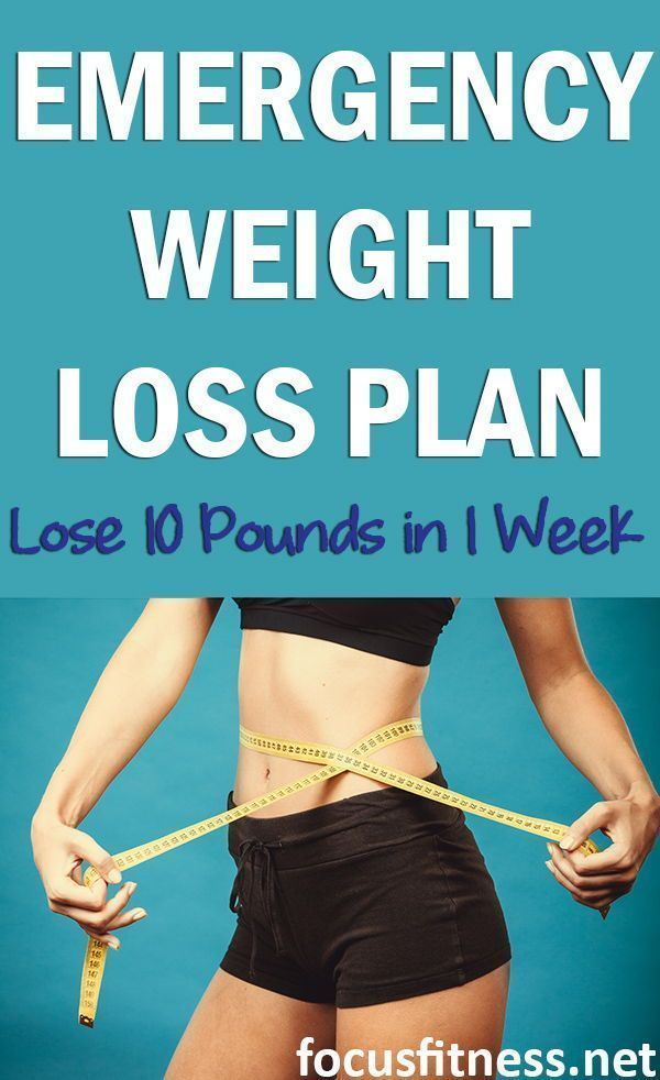 Emergency Weight Loss In 1 Week