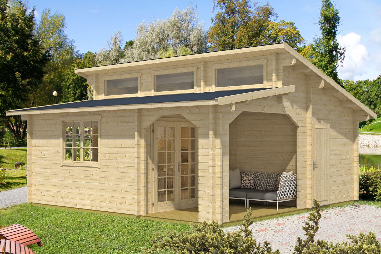 Gartenund Freizeithaus Pulti Royal70 Holzhaus garten