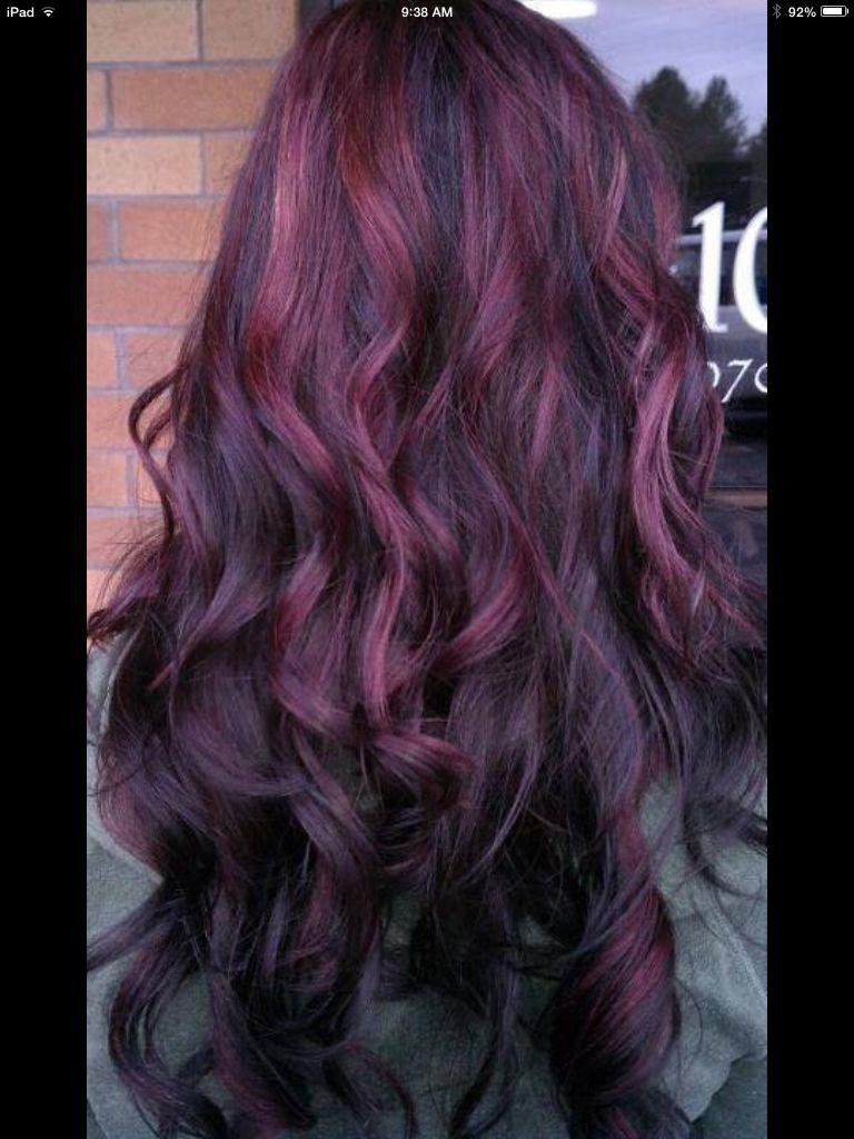 Black/purple hair hair color, Purple hair