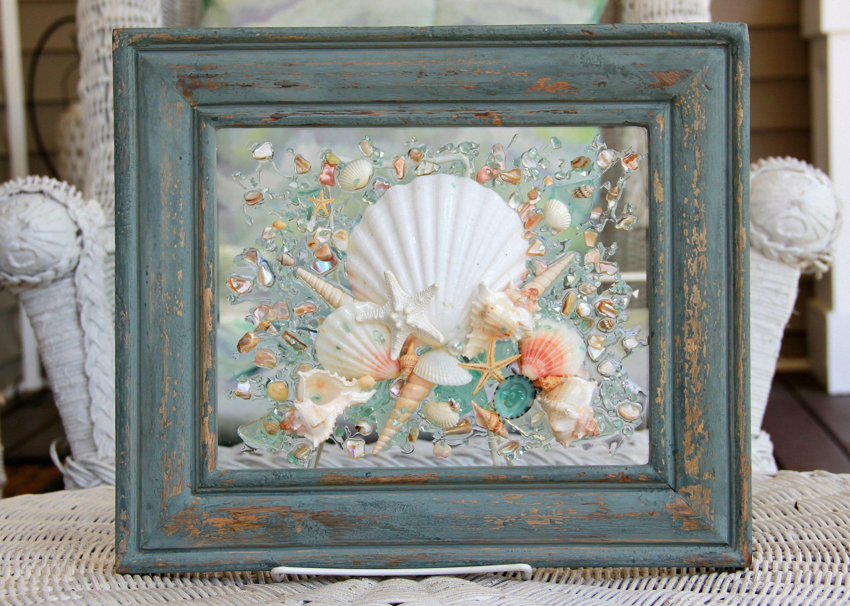 Beach Glass Art Nautical Decor Beach Decor For Bathroom Coastal
