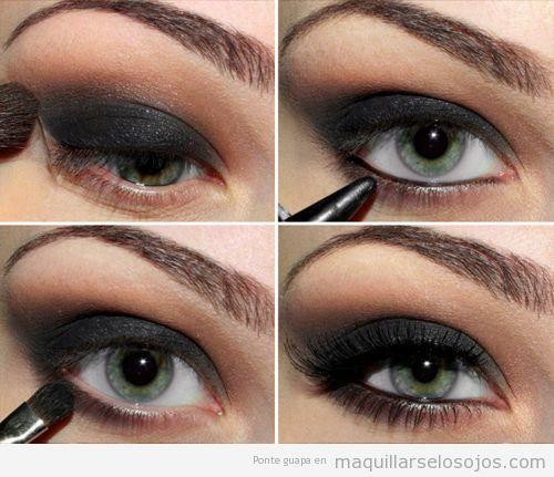 Tutorial paso a paso maquillaje ojos ahumado negro Make up