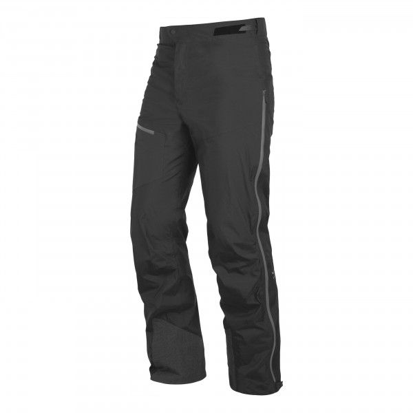 Besonders leichte, atmungsaktive Skitourenhose, die zuverlässig gegen Wind und Wasser schützt. Mit großzügigem Kanten- und Steigeisenschutz, ergonomisch vorgeformter Kniepartie und seitlichen Reißverschlüssen zur Belüftung.