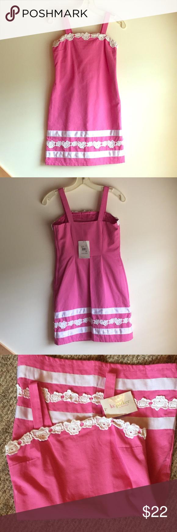 KC Parker by Hartstrings sundress - pink   Sundress, Pink, White trim
