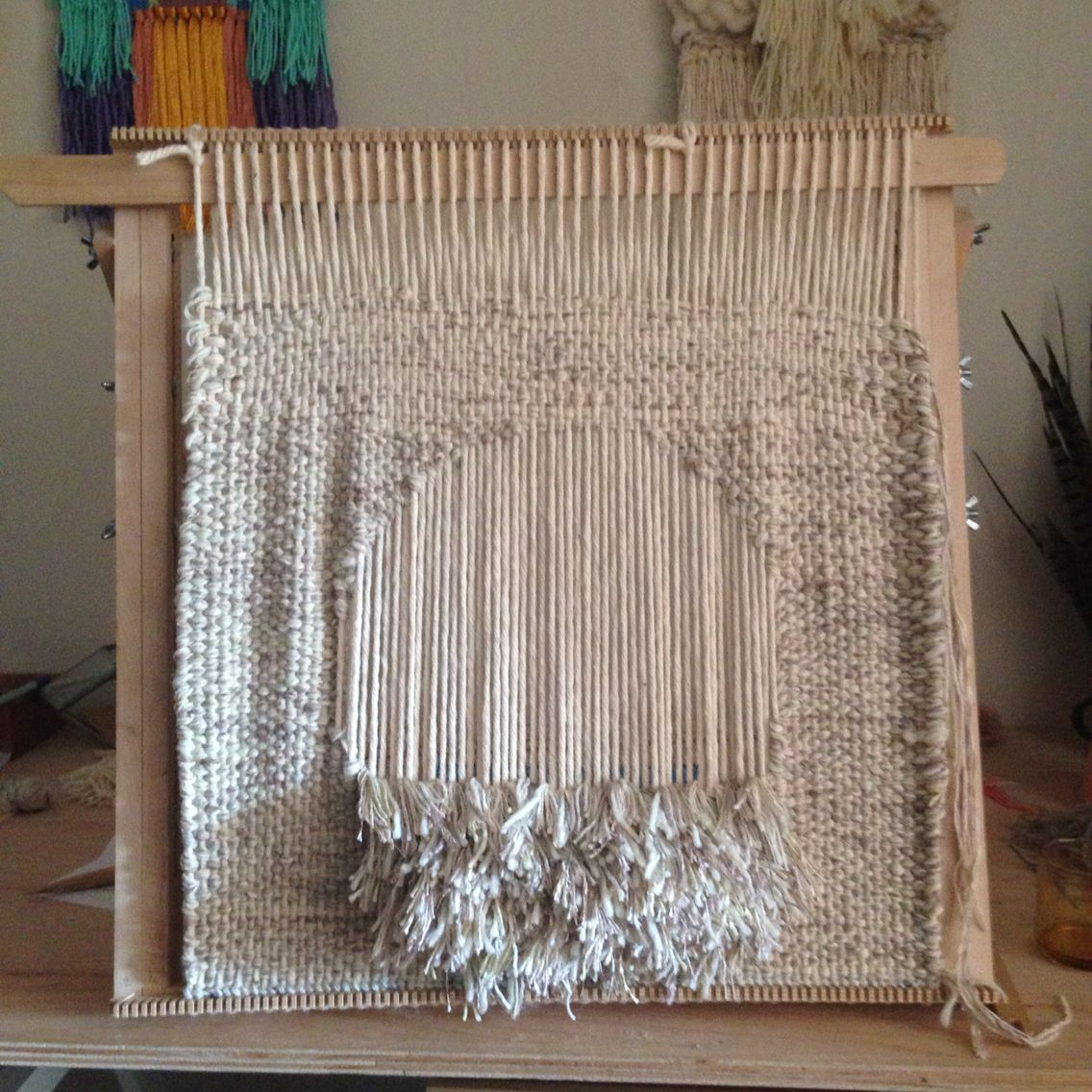 Woven Wall Hanging Weaving Tapestry By Maryanne Moodie