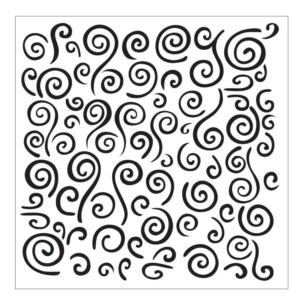 Folkart Swirl Background Small Painting Stencil 30609 The Home