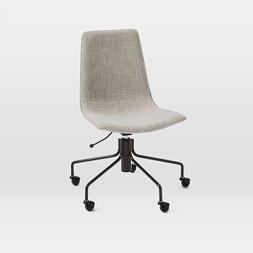 Slope Upholstered Swivel Office Chair Upholstered Office Chair