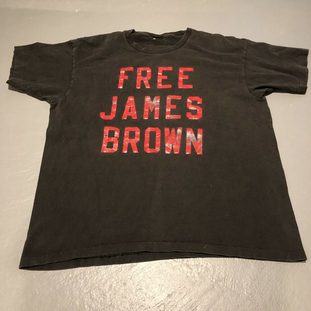 Rare Vtg 90s FREE JAMES BROWN T-shirt SOUL FUNK RAP HIP