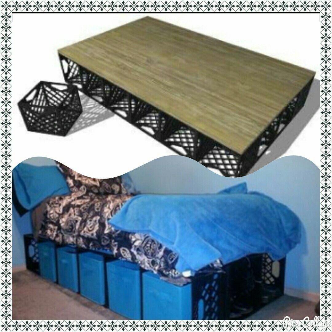 Make Bed Base From Milk Crates Perfect For More Store Crate Bed