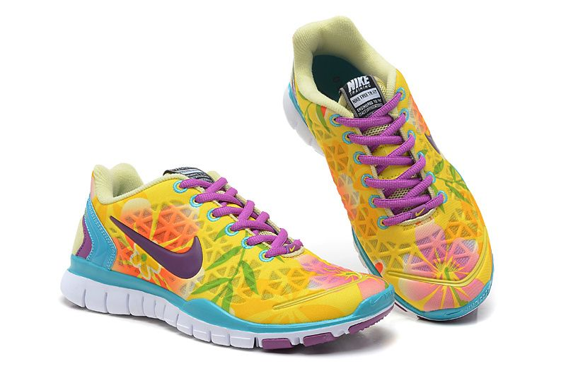 huge discount 6968f 80d06 Nike Running Free TR Fit 2 Breathe Womens Lemon Yellow Emerald Green Red Plum  Purple 487789 745