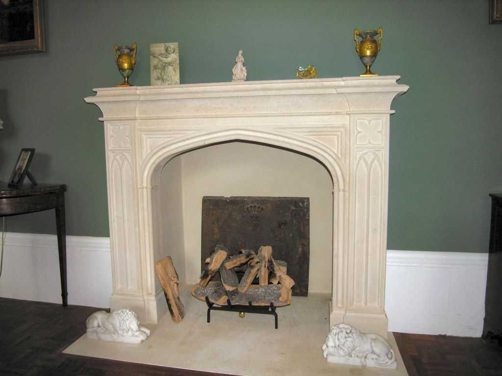 strawberry hill gothic stone fireplace 7 571 9 086 depending on