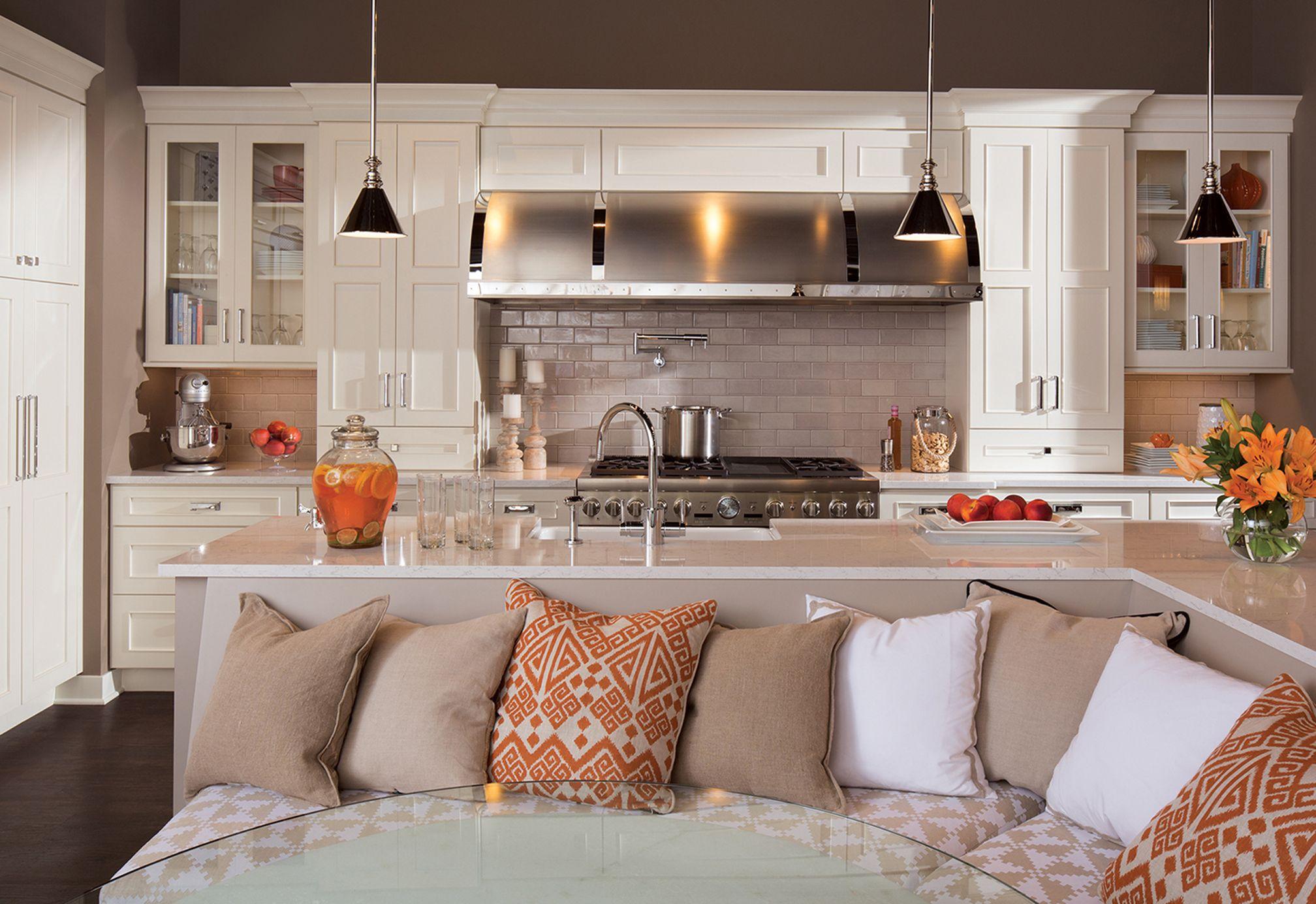 Gestalten sie ihre küche  umrühren küche insel sitze foto konzept  wenn sie die