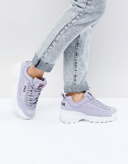 a87c44aadc19 Fila Premium Disruptor Trainers In Lilac in 2018   sneakers ...