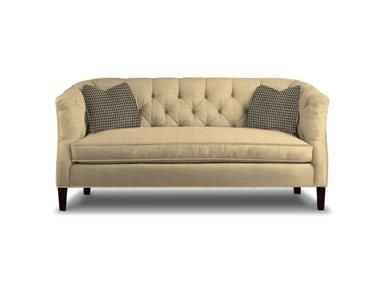 For Sherrill One Cushion Sofa And Other Living Room Sofas At Willis Furniture In Virginia Beach Va Shown With Contrasting Toss Pillows