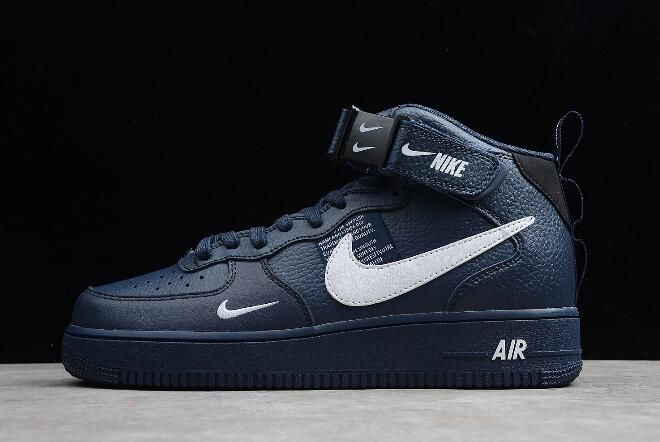 new concept 8a0a3 213e9 Buy Nike Air Force 1 07 Mid Navy Obsidian White 804609-403