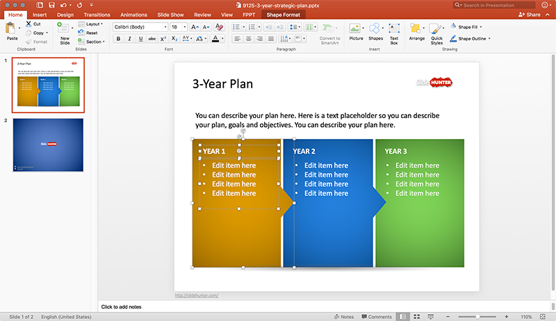 Free 3Year Strategic Plan PowerPoint Template Free