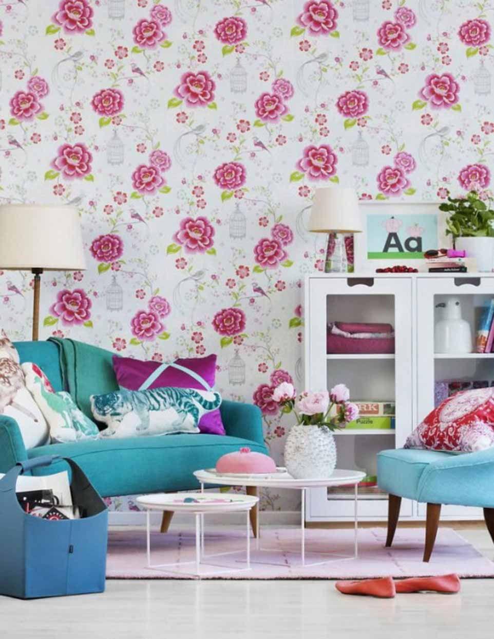 50 Contoh Wallpaper Dinding Ruang Tamu Minimalis Ruang