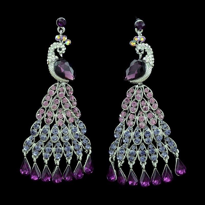 Women Girls Drop Earrings Crystal Dangle Earrings Bohemian Fashion Jewelry Gifts Alloy Earrings