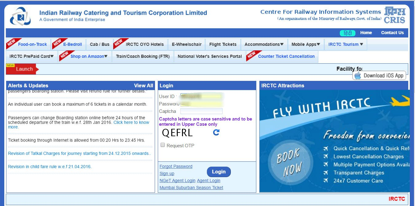 Indian Railway Launched New Irctc Website To Book E Ticket The