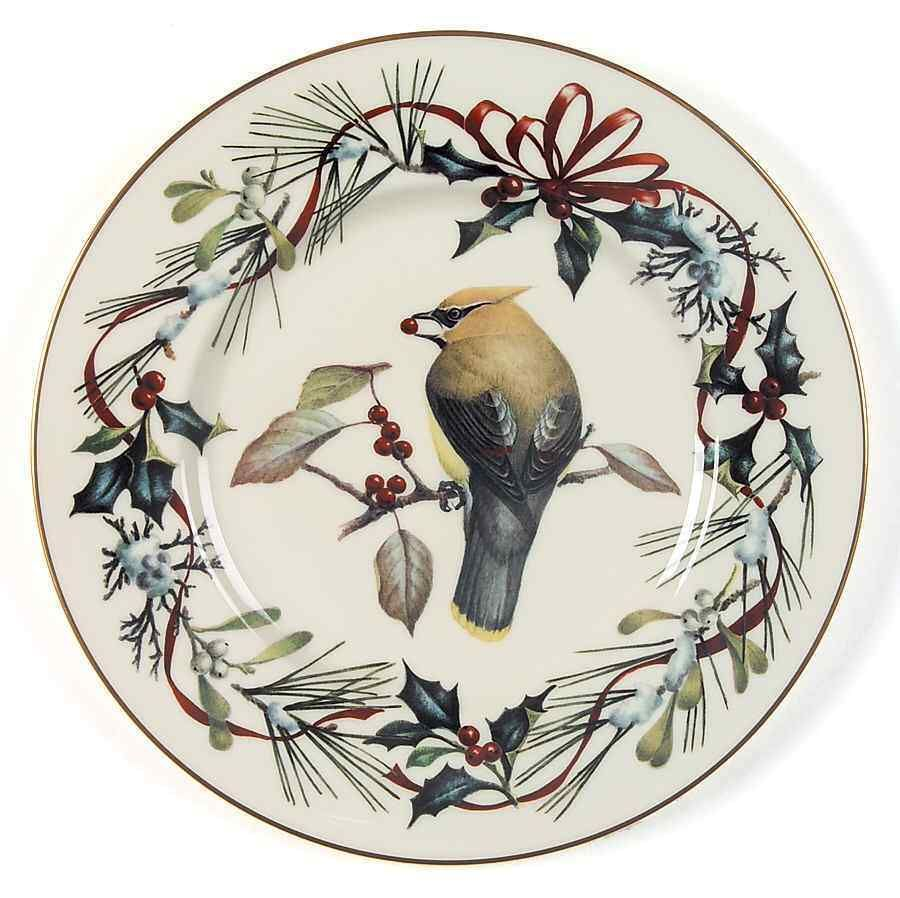Lenox winter greetings cedar waxwing accent luncheon plate 4952441 lenox winter greetings cedar waxwing accent luncheon plate 4952441 ebay m4hsunfo