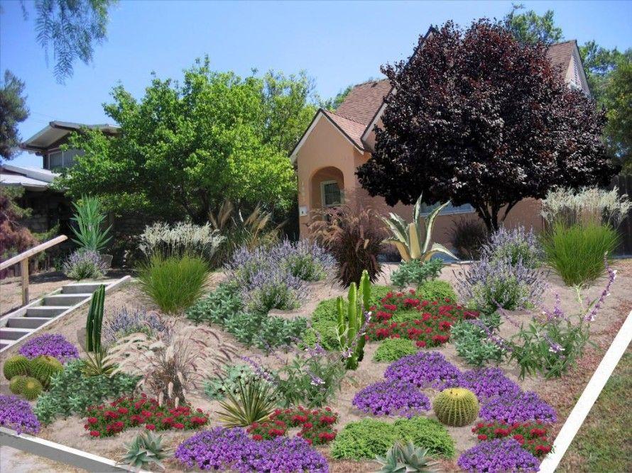 Floral Modern Front Yard Landscape Design Ideas Laurieflower Succulent Landscape Design Front Yard Landscaping Design Front Yard Landscaping