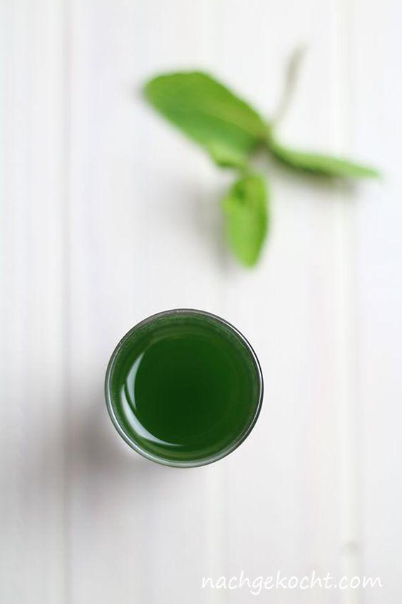 TM - Minzsirup - natürlich grün, ohne Farbstoff
