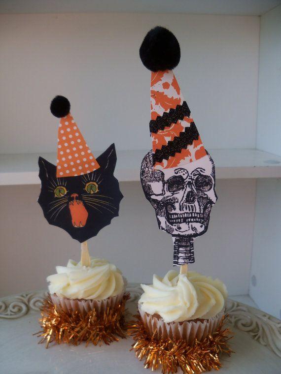 Halloween Cupcake Toppers Halloween Decoration for Halloween Party - how to decorate cupcakes for halloween