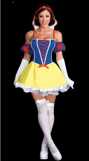 44c55266da Aliexpress.com   Buy New Snow White Princess Halloween Cosplay Costumes  Carnival Outfit For Adult Women Dress + Headpiece + Gloves from Reliable  New Snow ...