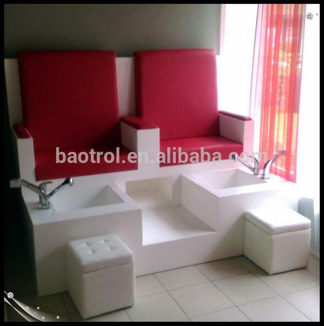 Moderna silla de muebles de saln de pedicura spa de uas