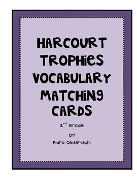 These Harcourt Trophies Vocabulary Matching Cards Are Made
