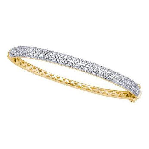 14k Yellow Gold 2.00Ctw Diamond Ladies Fashion Bangle