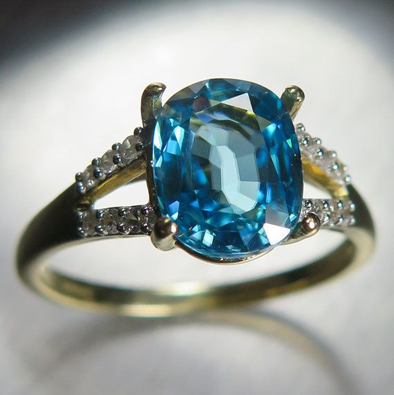 3.25cts Natural Flawless Paraiba blue Zircon oval cut 10K by EVGAD