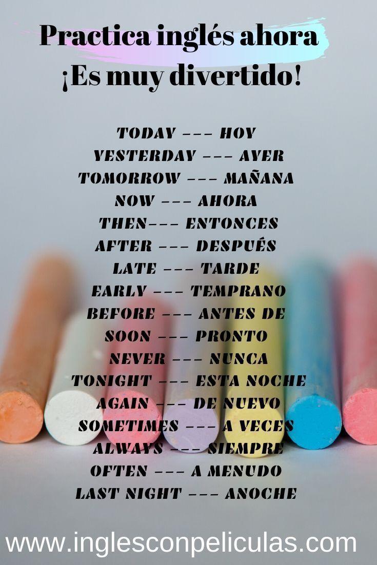Disfruta Aprendiendo Inglés Con Películas Trend Vocabulario En Ingles Palabras Basicas En Ingles Palabras Ingles Español