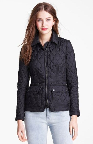 Burberry Brit Ivymoore Quilted Zip Jacket Nordstrom Burberry Brit Jacket Jackets Zip Jackets