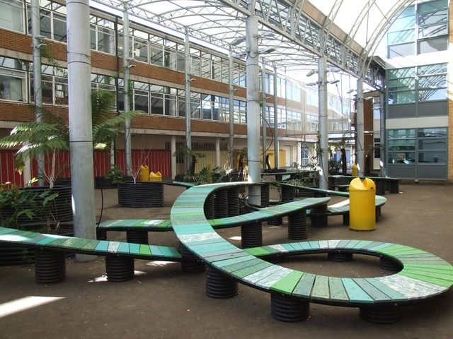 Image For Outside Seating Area At Longhill School
