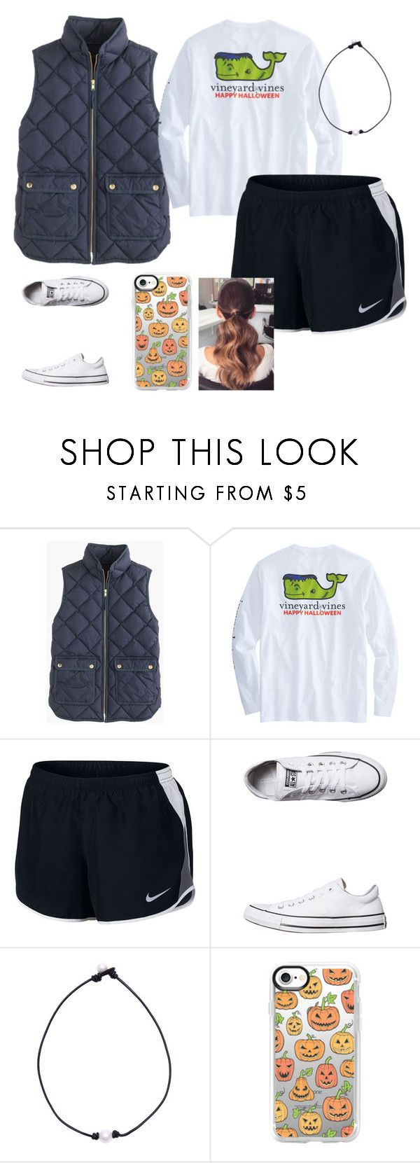 """~ halloween 1 ~"" by southern-preppster on Polyvore featuring J.Crew, NIKE, Converse and Casetify"