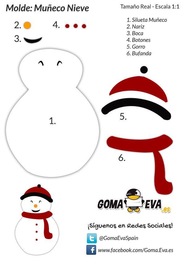 Muñeco De Nieve De Goma Eva Christmas And More Goma Eva Navidad