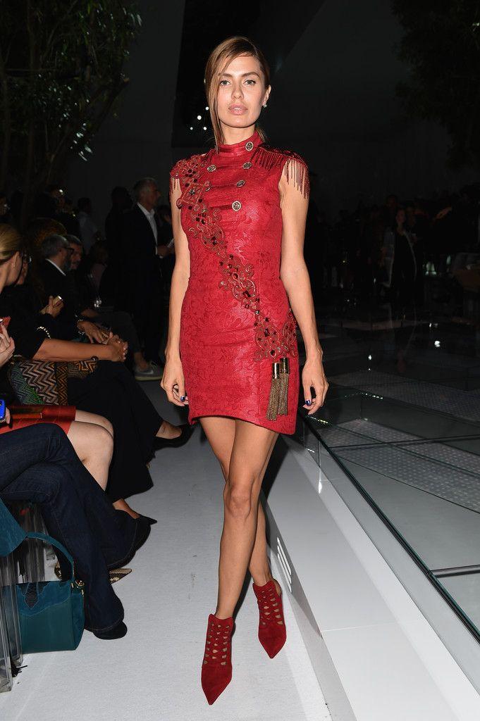 12fa24827cd Victoria Bonya Photos Photos: Front Row at Versace in 2019 | My ...
