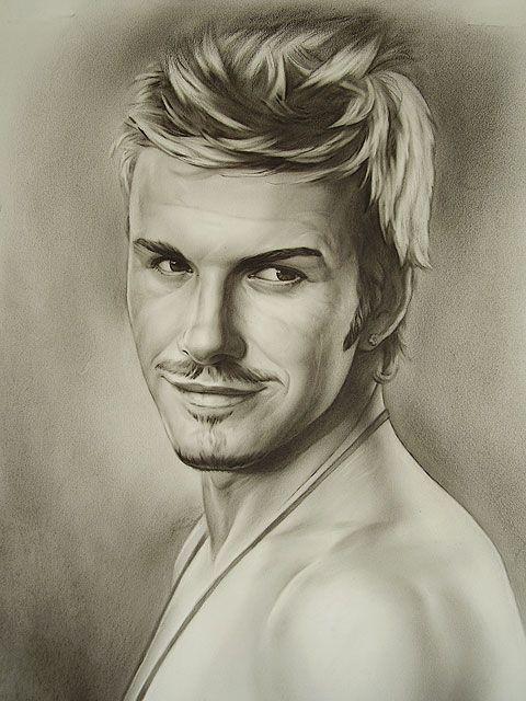 Dibujo de retrato de David Beckham hombre ftbol por ARCadenceArt