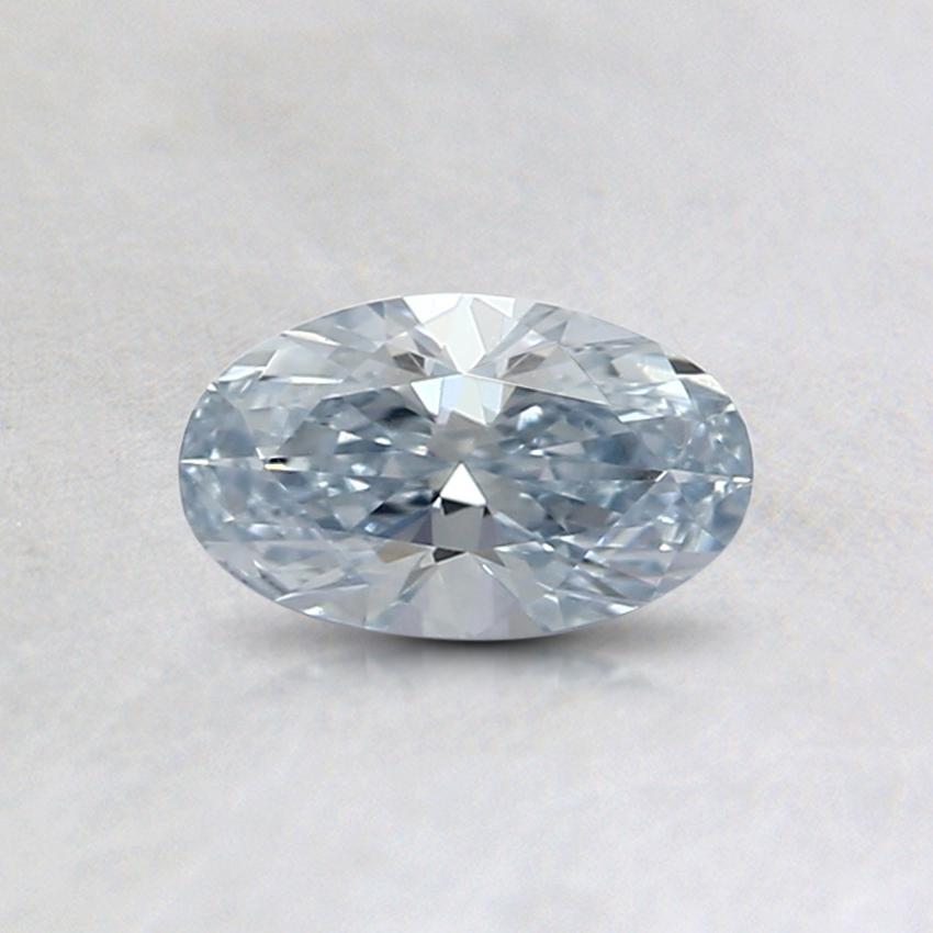 0.35 Ct. Light Blue Oval Lab Created Diamond | Lab created diamonds. Diamond. Gemstones